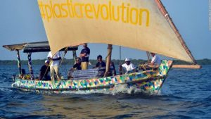 This Kenyan Team Travelled From Lamu To Zanzibar On A Dhow Made From 100% Recycled Plastics And Flipflops