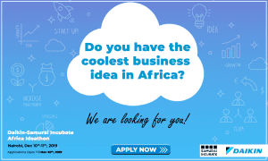 Call For Startup Applications For The Daikin-Samurai Incubate Africa Ideathon