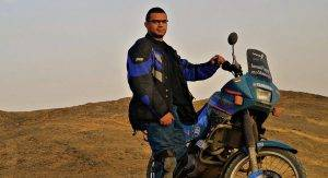 World's Longest Journey On an Electric Motorcycle to Build Egypt's Largest Digital Library
