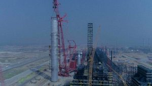 World's Largest Single Crude Distillation Column Successfully Installed At Dangote's Giant Refinery In Lagos